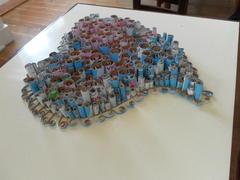 O nosso coração depois de finalizada a primeira parte do projeto, fazer rolinhos e colar.