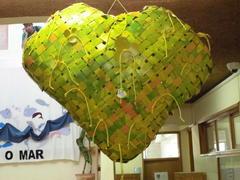 Coração Final em exposição na escola