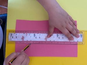 Medir. Efetuação de medições para recorte.