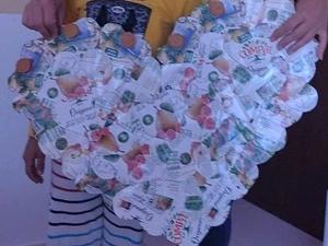 Coração do Dia da mãe-embalagens compal