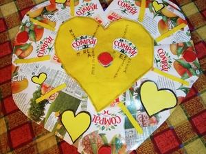 Coração amarelo- fase 5
