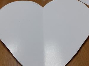 Recorte do coração em cartão com 35cmx35cm