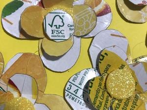 Aplicação do símbolo FSC no trabalho.