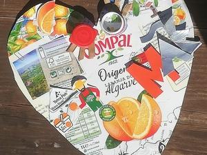 """""""Algarve amarelo"""" Participação, em família, no concurso Dia da mãe. Trabalho realizado por uma aluna da turma M2, utilizando embalagens de sumo, cartão, material este que era o que estava disponível em casa."""