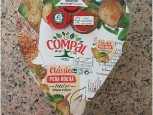 Selo da embalagem da Tetra Pak da marca Compal e com símbolo FSC®.