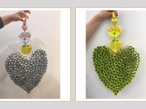 Foto 4 – Coração antes e depois de ser pintado
