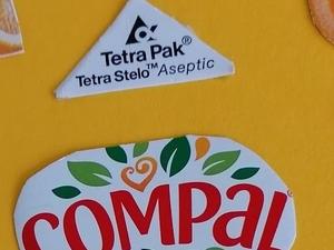 Pormenor coração Tetra Pak