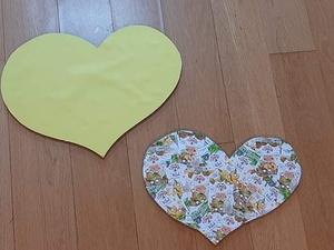 Coração amarelo da mãe, coração Tetra Pak do Filho