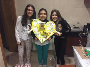 As autoras do trabalho. As alunas Matilde Monteiro, Maria Clara Martins e Letícia Freitas da turma 6º3 da escola EB 2,3 Júlio Brandão aceitaram o desafio e elaboraram este magnífico trabalho.