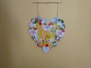 Possível utilização do Coração Amarelo como peça decorativa (quadro)
